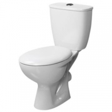 Lecico - Neon Close-Coupled DF Toilet Suite Incl Mechanism Angle Valve & MDF Seat White