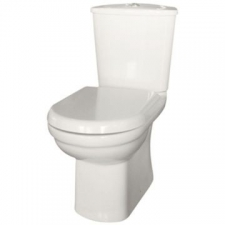 Lecico - Roma Close-Coupled Toilet Box Set Incl Mechanism Angle Valve & SC Seat White