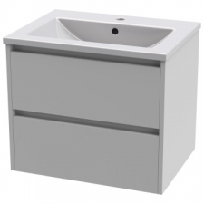 Casso - Lily Wall-Hung Unit 2 Drawers with Felix Basin 610 HGW
