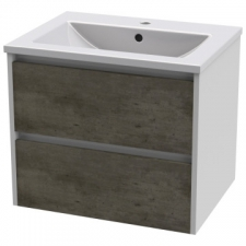 Casso - Lily Wall-Hung Unit 2 Drawer with Felix Basin 610 NC & HGW