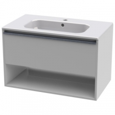 Casso - Rose 800 Wall-Hung Unit & Victoria 800 Basin High Gloss White