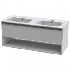 Casso - Rose 1200 Wall-Hung Unit & Victoria 1200 Basin High Gloss White