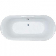 ASP - Darwin oval bath with centre waste 1700mm x 800mm white
