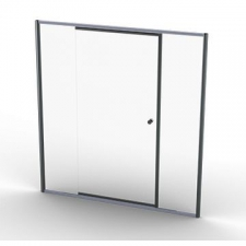 Finestra - Tel/Pivot Door 710-880 x 1860mm Silver