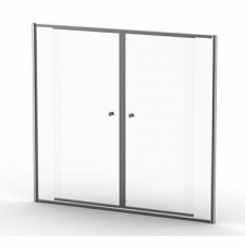 Finestra - Duo In-Line Door 2300-2500mm B/Chrome