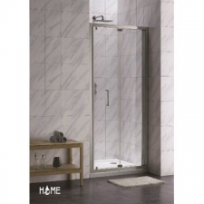 Home - BI-Folding shower door 870x1900mm Silver/Clear