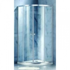 Home - Quarter Round Shower Door 900 x 900 x 1900mm Silver/Clear