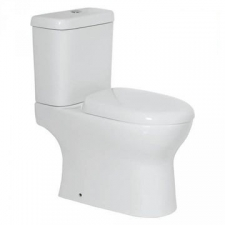 Solo Kuta Close-Coupled Toilet Suite with Mechanism & Seat White