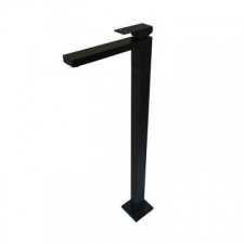 Meir - Bath Mixer Square Freestanding Matt Black