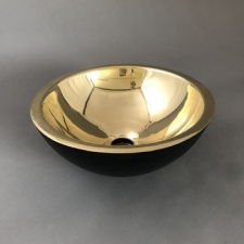 Rossco - Large Countertop Basin 450x135mm Black & Brass