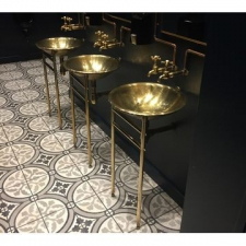 Rossco - Metalic Basin On Stand 450x850mm Brass