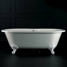 Cheshire F/Standing Bath w/Overflow & Cheshire Feet Quarrycast 1750x800mm White - Victoria & Albert