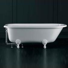 Hampshire Freestanding Bath w/Overflow Hampshire Feet Qarrycast 1705x780mm White - Victoria & Albert