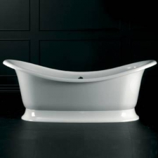 Marlborough F/Standing Bath w/Overflow & Marlborough Base w/Overflow 1890x860mm White - Victoria & Albert