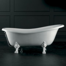 Roxburgh Freestanding Bath w/Overflow & Roxburgh Feet Quarrycast 1710x815mm White - Victoria & Albert