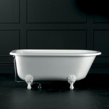 Wessex Freestanding Bath w/Overflow & Wessex Feet Quarrycast 1520x765mm White - Victoria & Albert