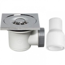 Wirquin - Tourbillon Square Shower Trap 60mm Chrome Pro