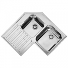 Studio STX621 LHD Sink Double Bowl 830x830 with Kit Stainless Steel - Franke