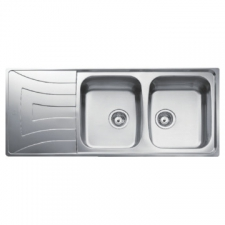 Teka - Universo 2B 1D Sink Drop-In DB 1160x500x160mm Polished Stainless Steel