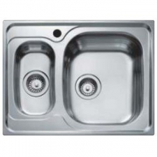 Teka - Universo 1.5B Sink Drop-In SB & Tidy 650x500x160mm Polished Stainless Steel