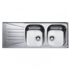 Teka - Basico 2B 1D Sink Drop-In DEB 1160x500x150mm Polished Stainless Steel